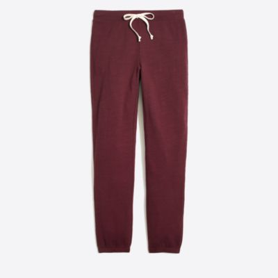 Piece-dyed slouchy sweatpant