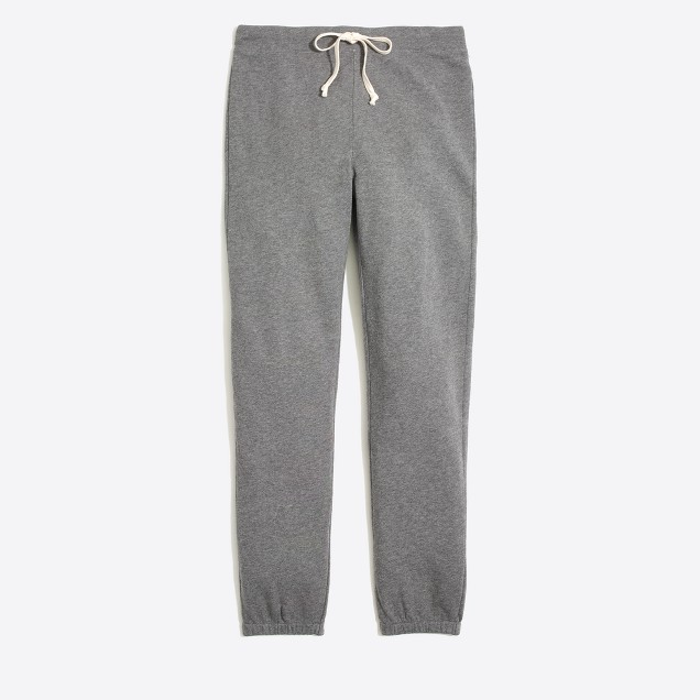 Heathered slouchy sweatpant