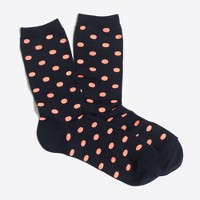 Neon dot trouser socks