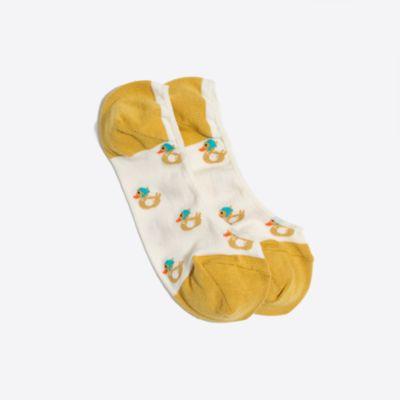 Rubber duck no-show socks