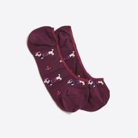 Sailor dachshund no-show socks