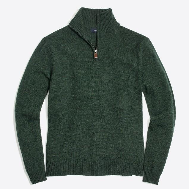 Slim lambswool half-zip sweater