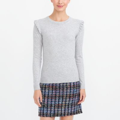 Ruffle-shoulder sweater