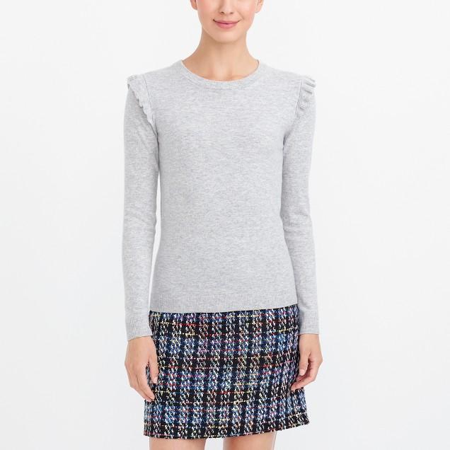 Ruffle-shoulder sweater