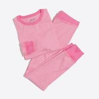 Girls' striped pajama set