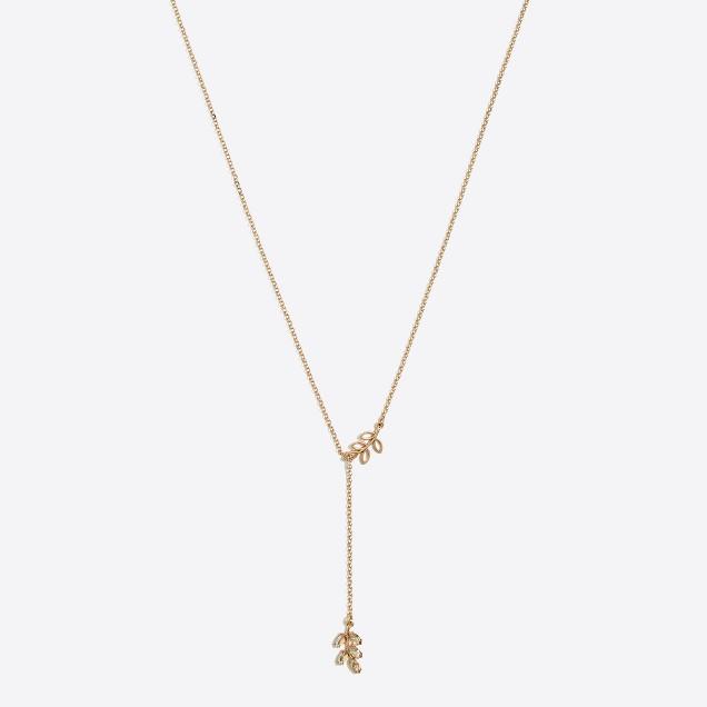 Leaf Y-necklace