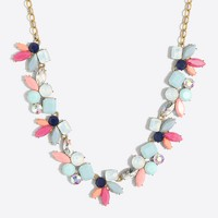 Multi-color gemstone blossom necklace