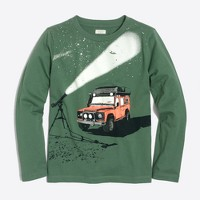 Boys' long-sleeve glow-in-the-dark stargazer storybook T-shirt