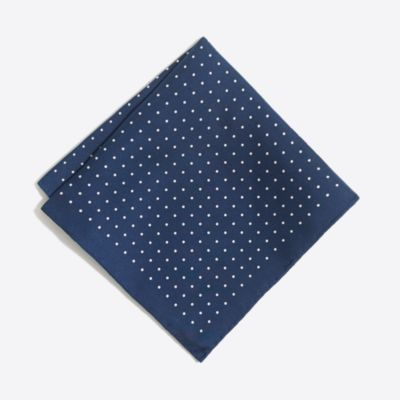 Silk pindot pocket square factorymen ties & pocket squares c