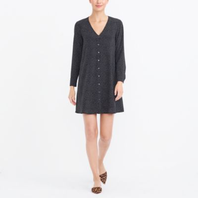 Long-sleeve button-up dress