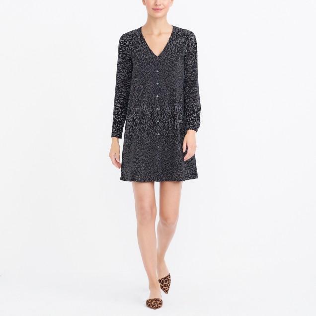 Long-sleeve button-up dress