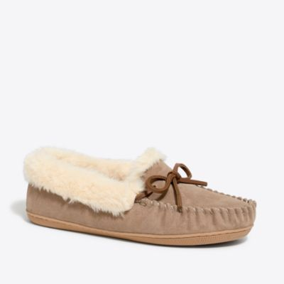 Suede shearling slippers factorywomen extra-nice list deals c