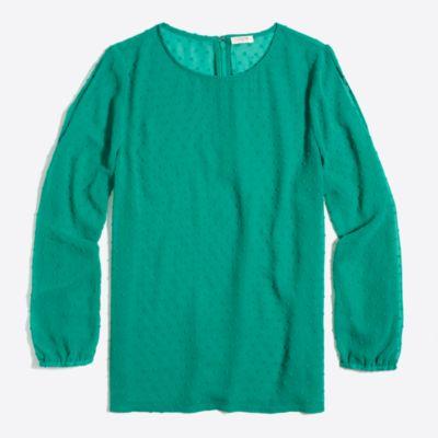 Cold-shoulder clip dot top   sale