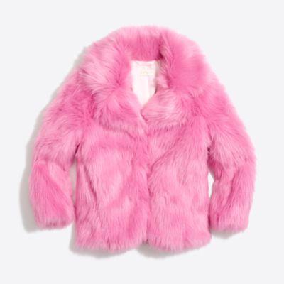 Girls' faux fur coat