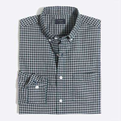 Heather washed gingham shirt factorymen casual shirts c