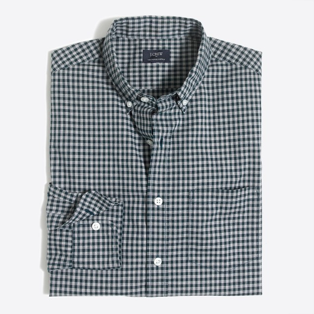 Heather washed gingham shirt