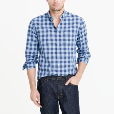 Heather washed gingham shirt factorymen new arrivals c