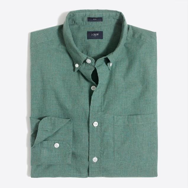 Slim heathered cotton shirt