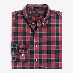 Slim heather washed gingham shirt