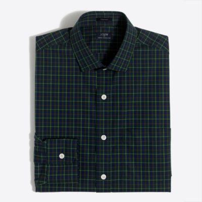 Plaid flex wrinkle-free Voyager dress shirt
