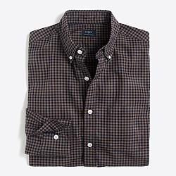 Slim heather washed tattersall shirt