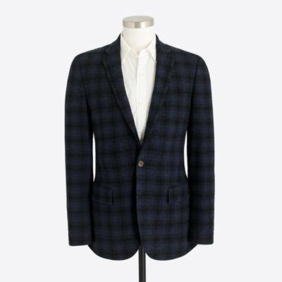 Thompson wool plaid sports coat
