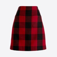 Wool mini skirt in harvest plaid