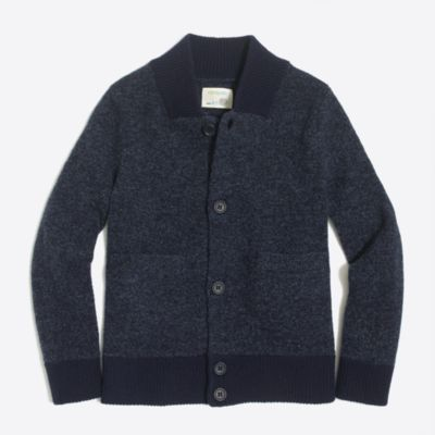 Boys' lambswool bomber jacket