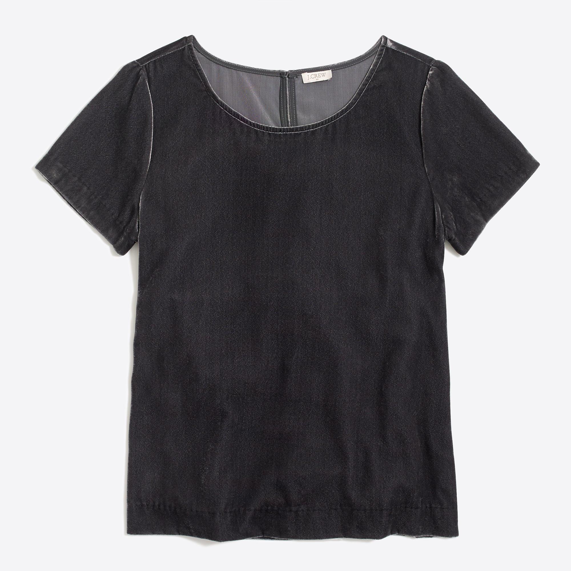 Velvet t shirt factorywomen blouses tops factory for Red velvet button up shirt