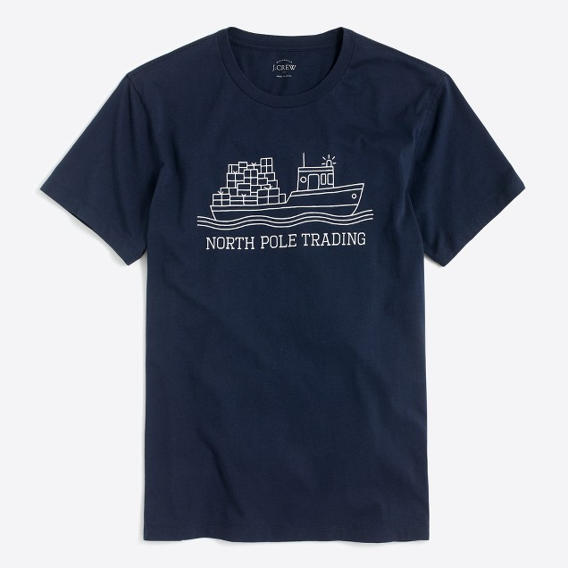 North pole trading graphic T-shirt