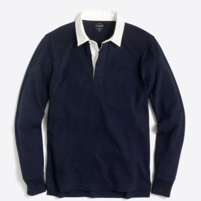 Long-sleeve rugby shirt in solid