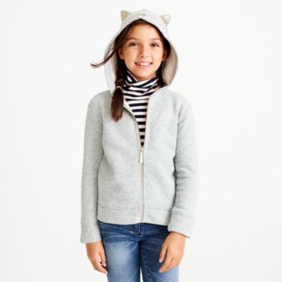 Girls' kitty sweatshirt