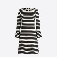 Bell-sleeve striped dress
