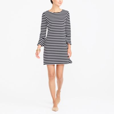 Bell-sleeve striped dress factorywomen dresses c