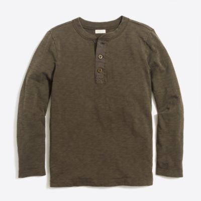 Boys' long-sleeve garment-dye henley factoryboys knits & t-shirts c