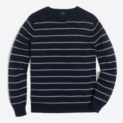 Slim Harbor cotton placed stripe crewneck sweater factorymen sweaters c