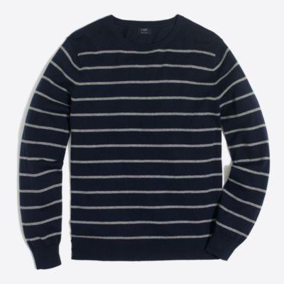 Harbor cotton placed stripe crewneck sweater