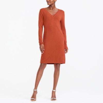 V-neck sweater dress factorywomen dress-up shop c