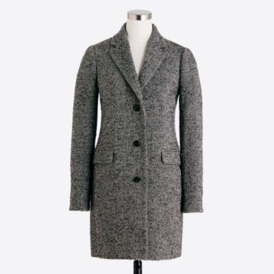 Tweed topcoat   sale