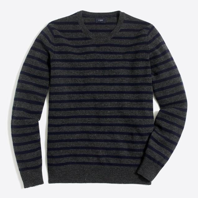 Lambswool striped crewneck sweater