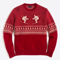 Skier fair isle sweater