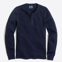 Long-sleeve thermal henley