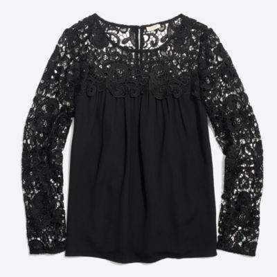 Long-sleeve lace top   sale