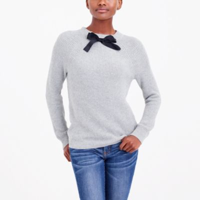 Bow-neck sweater