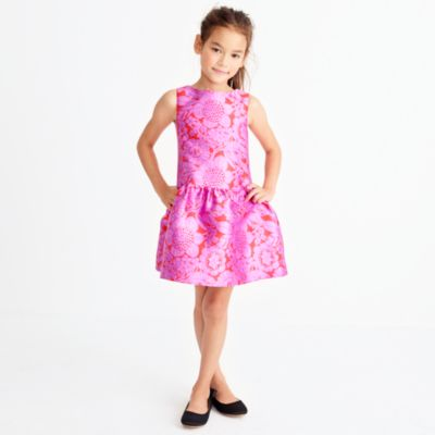 Girls' floral lace dress