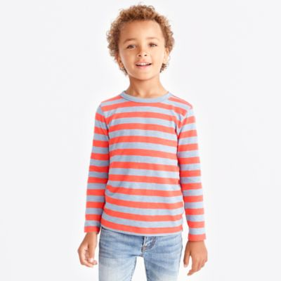 Boys' slub cotton striped T-shirt