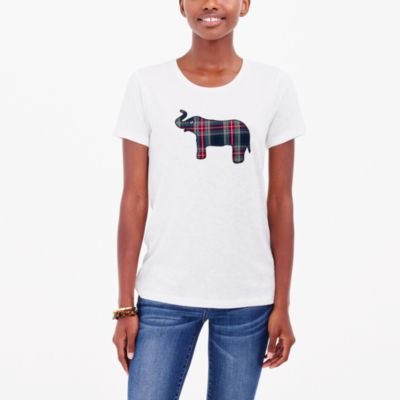 Tartan elephant collector T-shirt