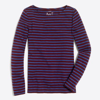 Striped artist T-shirt factorywomen new arrivals c