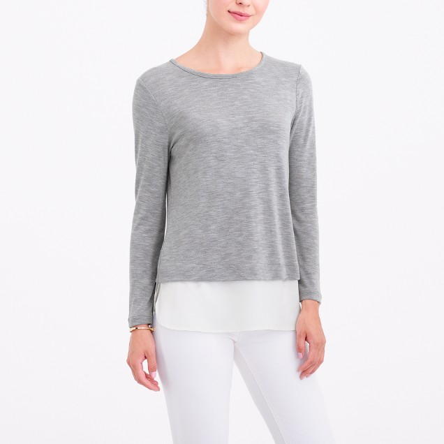 Long-sleeve drapey T-shirt