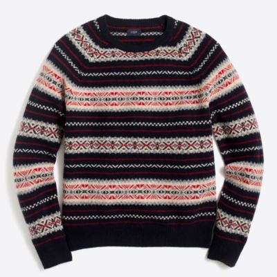 Spruce fair isle sweater : FactoryMen Lambswool | Factory